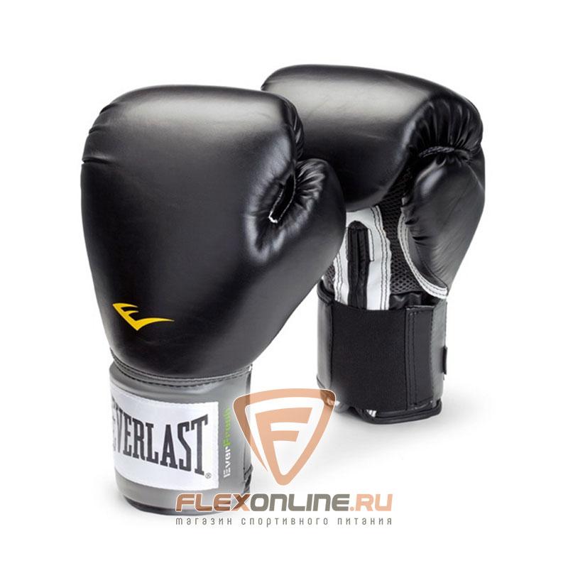 Боксерские перчатки Перчатки боксерские тренировочные Pro Style 10 унций чёрные от Everlast