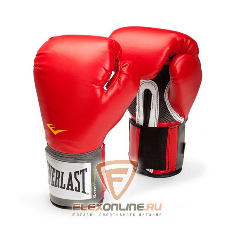 Боксерские перчатки Перчатки боксерские тренировочные Pro Style 14 унций красные от Everlast