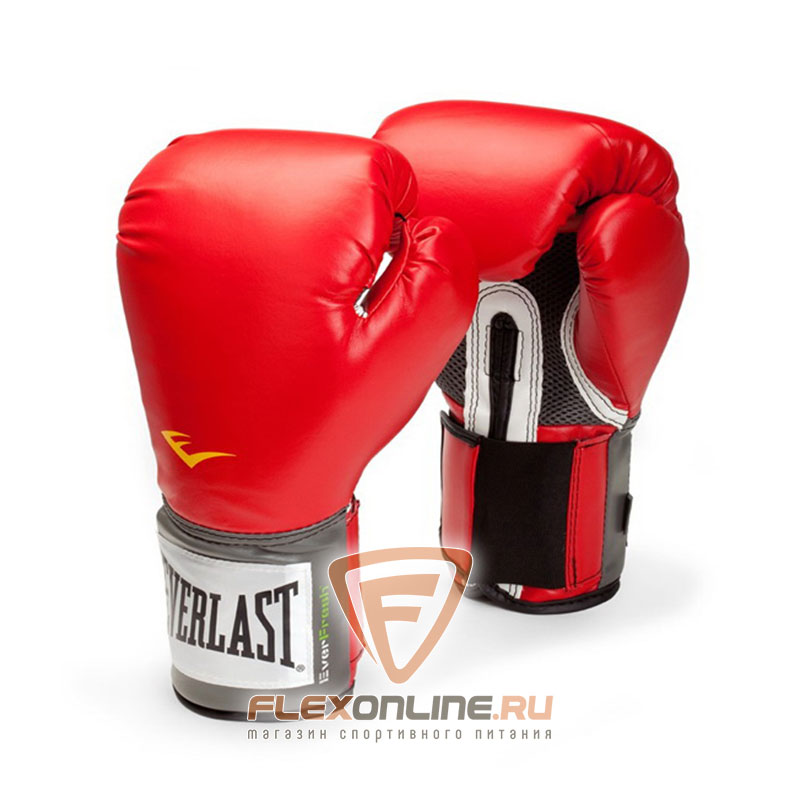Боксерские перчатки Перчатки боксерские тренировочные Pro Style 16 унций красные от Everlast