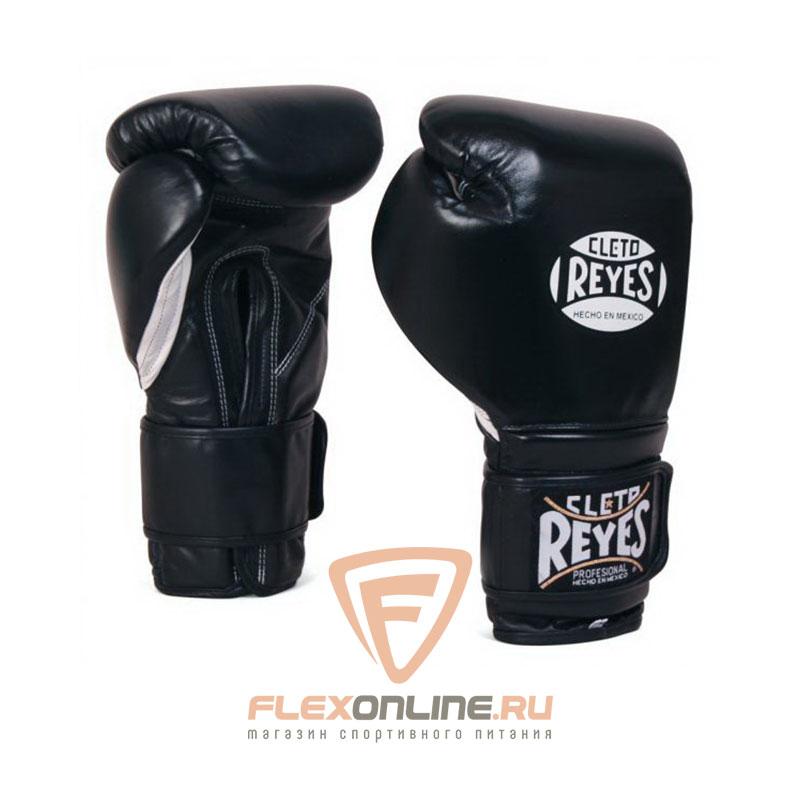 Боксерские перчатки Перчатки боксерские на липучке 14 унций чёрные от Cleto Reyes