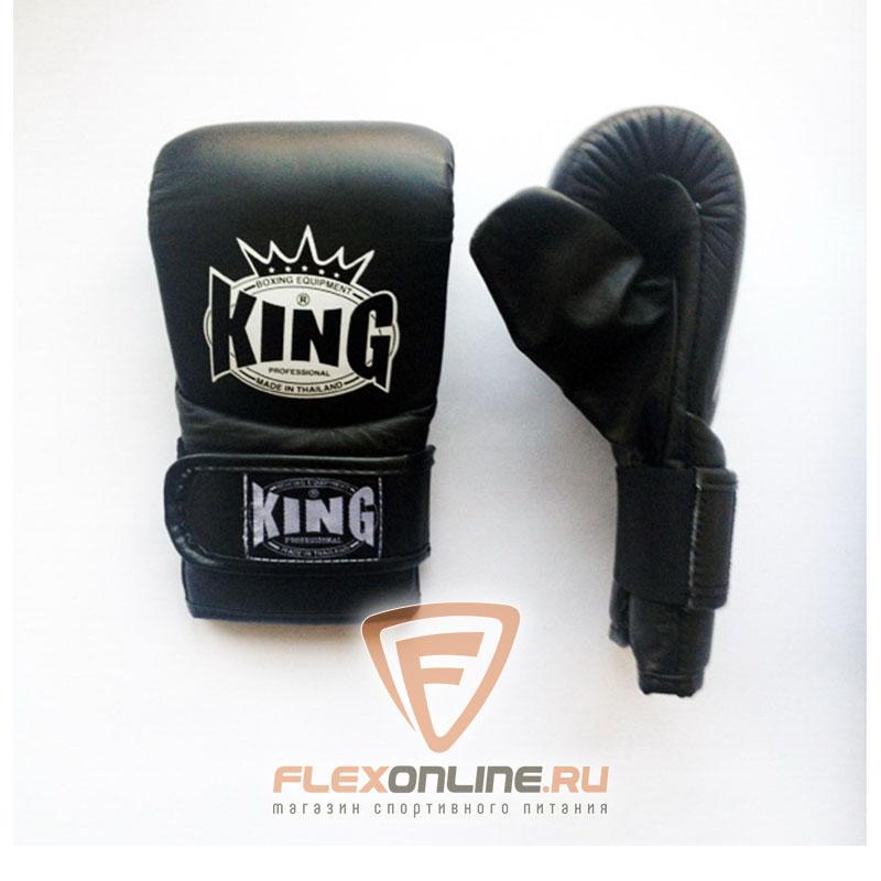 Cнарядные перчатки Перчатки снарядные на липучка M чёрные от King