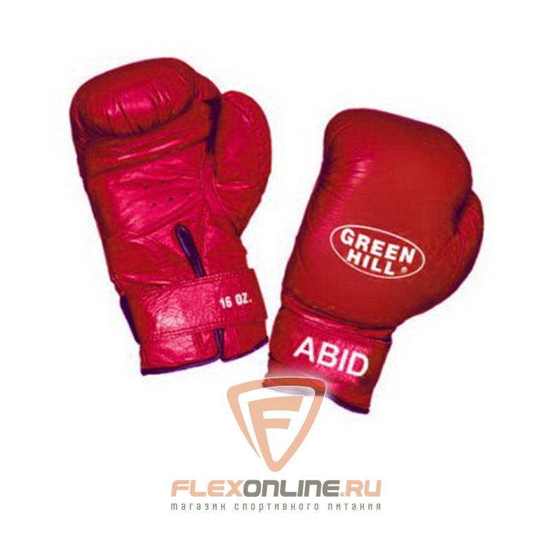 Боксерские перчатки Перчатки боксерские ABID 14 унций красные от Green Hill