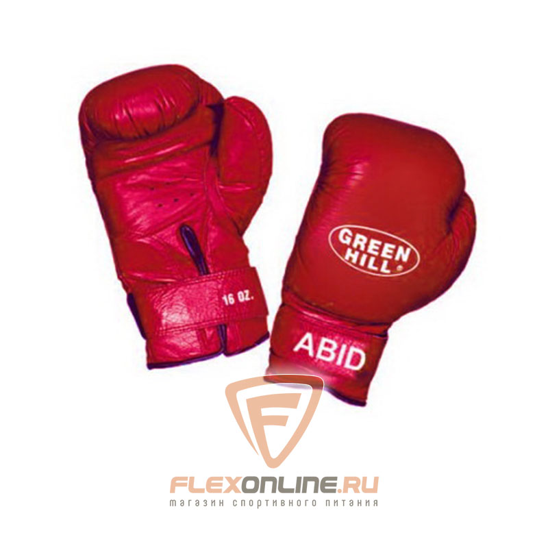 Боксерские перчатки Перчатки боксерские ABID 16 унций красные от Green Hill