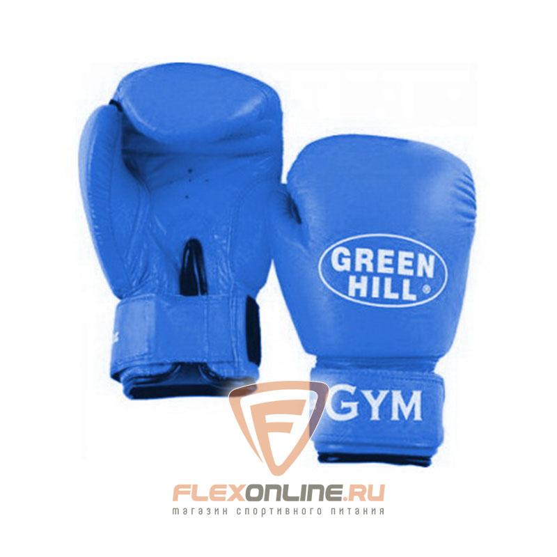 Боксерские перчатки Перчатки боксерские GYM 16 унций синие от Green Hill