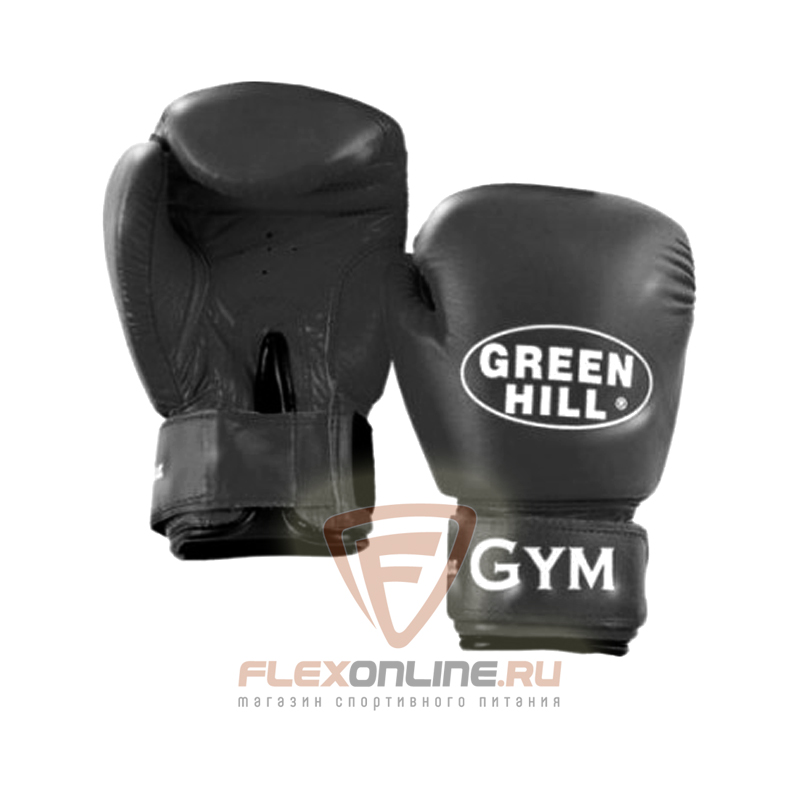 Боксерские перчатки Перчатки боксерские GYM 18 унций чёрные от Green Hill