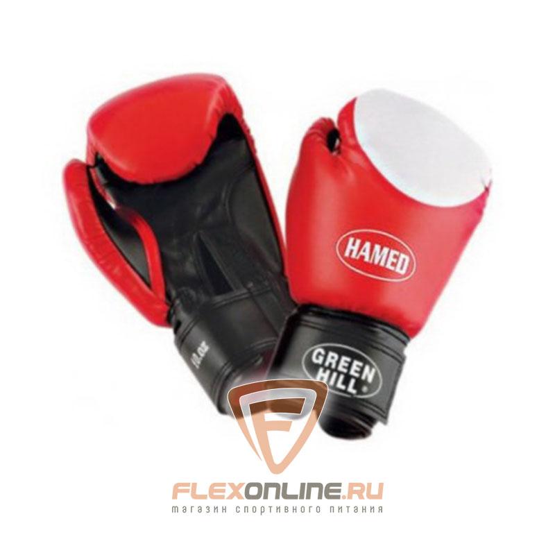 Боксерские перчатки Перчатки боксерские HAMED 6 унций красные от Green Hill