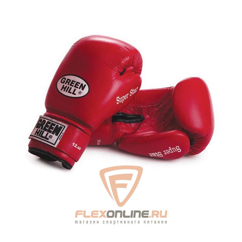 Боксерские перчатки Перчатки боксерские SUPER STAR 10 унций красные от Green Hill