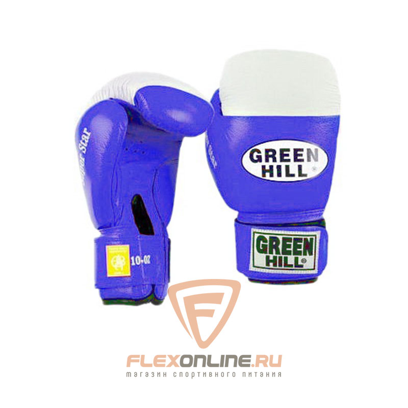 Боксерские перчатки Перчатки боксерские SUPER STAR 14 унций синие от Green Hill