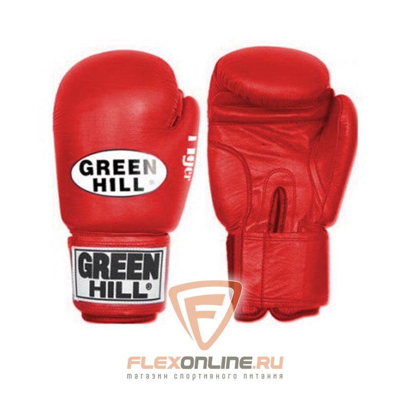 Боксерские перчатки Перчатки боксерские TIGER 8 унций красные от Green Hill