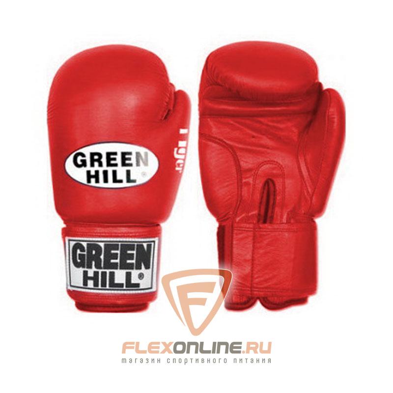 Боксерские перчатки Перчатки боксерские TIGER 14 унций красные от Green Hill