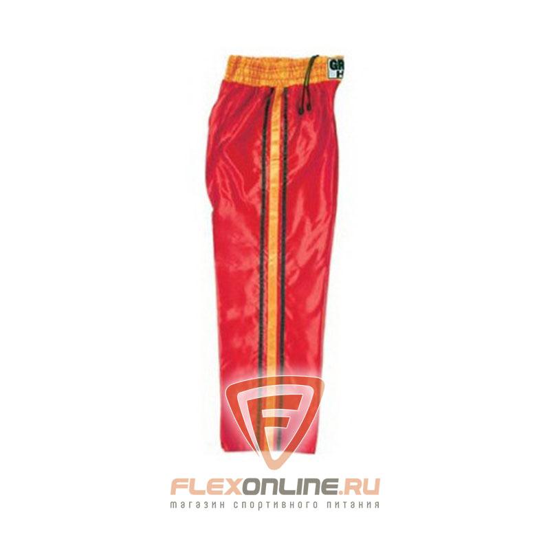 Одежда Кикбоксерские штаны MASTER красные от Green Hill