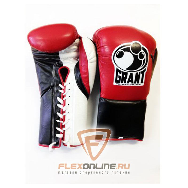 Боксерские перчатки Перчатки боксерские соревновательные на шнурках от Grant