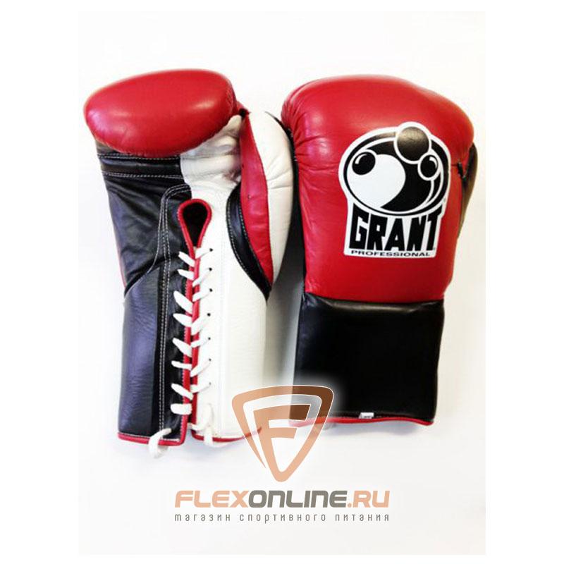 Боксерские перчатки Перчатки боксерские соревновательные на шнурках XL от Grant