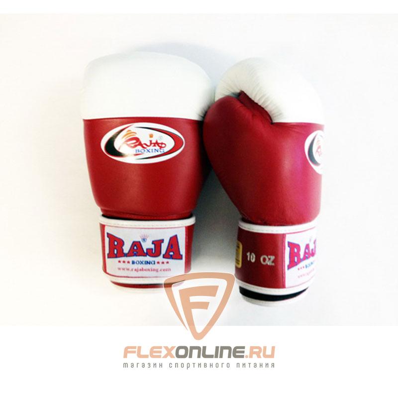 Боксерские перчатки Перчатки боксерские соревновательные на липучке 8 унций красно-белые от Raja