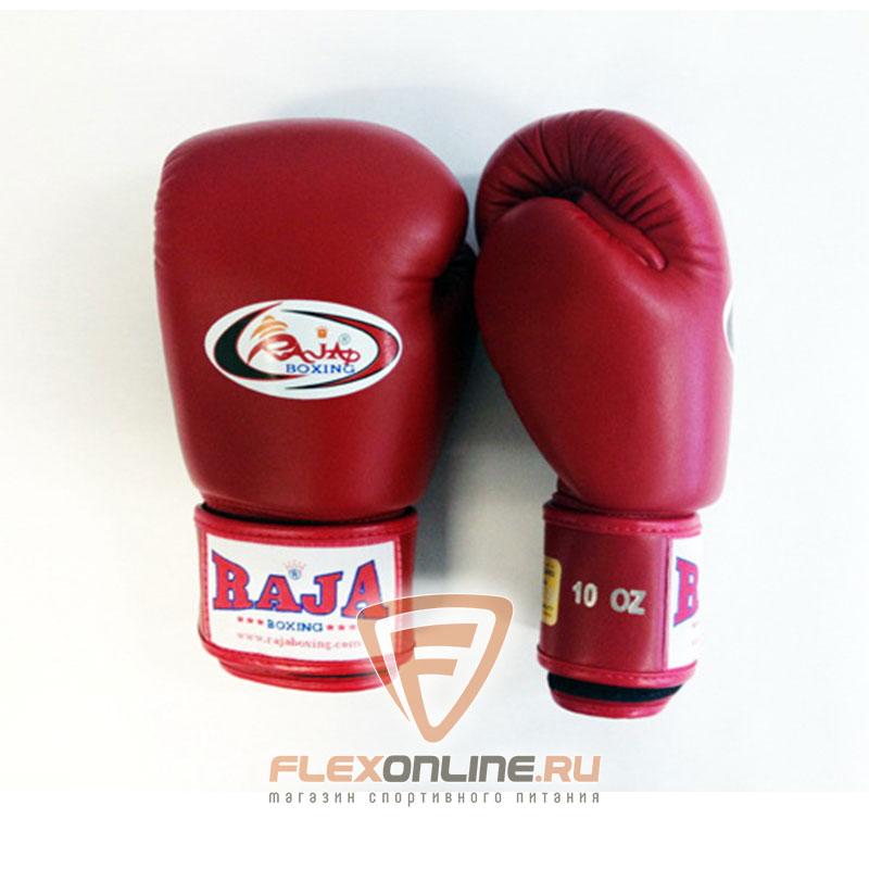 Боксерские перчатки Перчатки боксерские тренировочные на липучке 12 унций красные от Raja