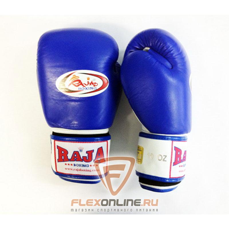 Боксерские перчатки Перчатки боксерские тренировочные на липучке 10 унций сине-белые от Raja