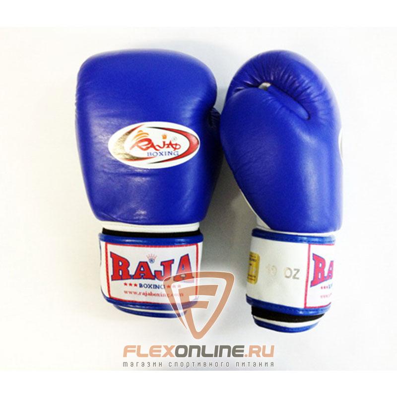 Боксерские перчатки Перчатки боксерские тренировочные на липучке 16 унций сине-белые от Raja