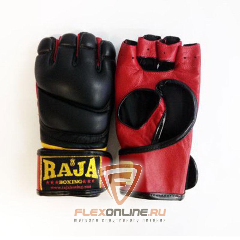 Перчатки MMA Перчатки MMA на липучке S чёрные от Raja
