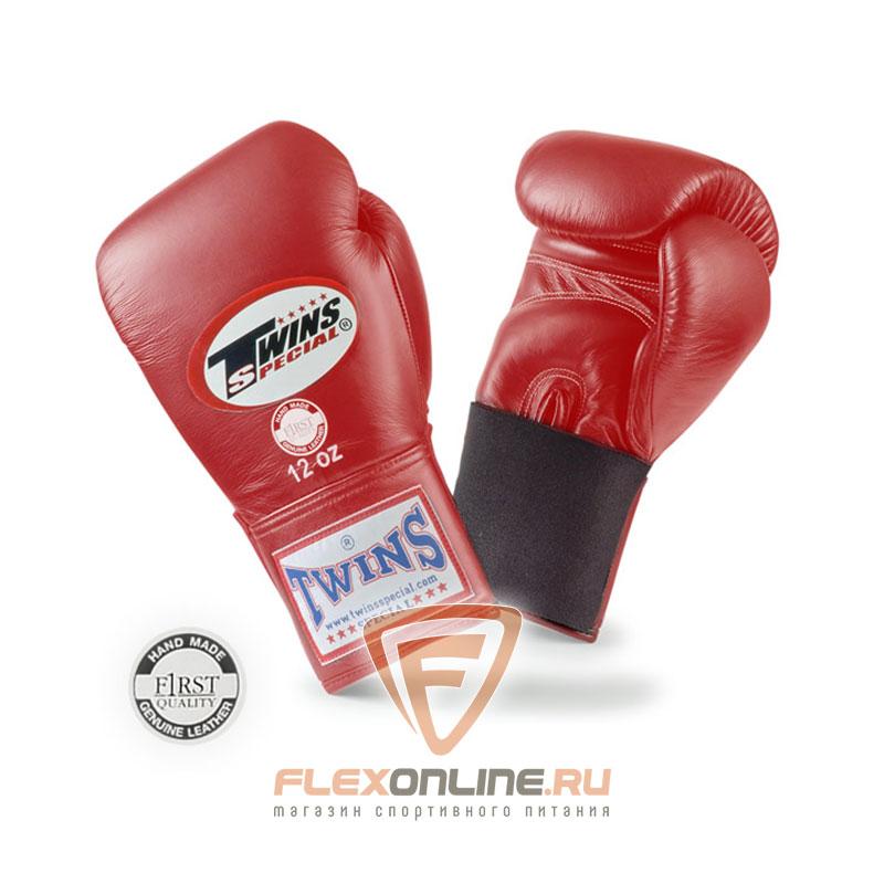 Боксерские перчатки Перчатки боксерские тренировочные на резинке 14 унций красные от Twins