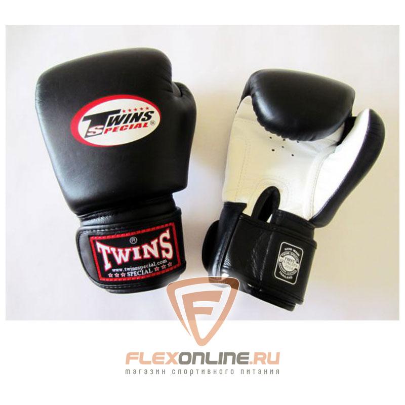 Боксерские перчатки Перчатки боксерские тренировочные 6 унций бело-чёрные от Twins