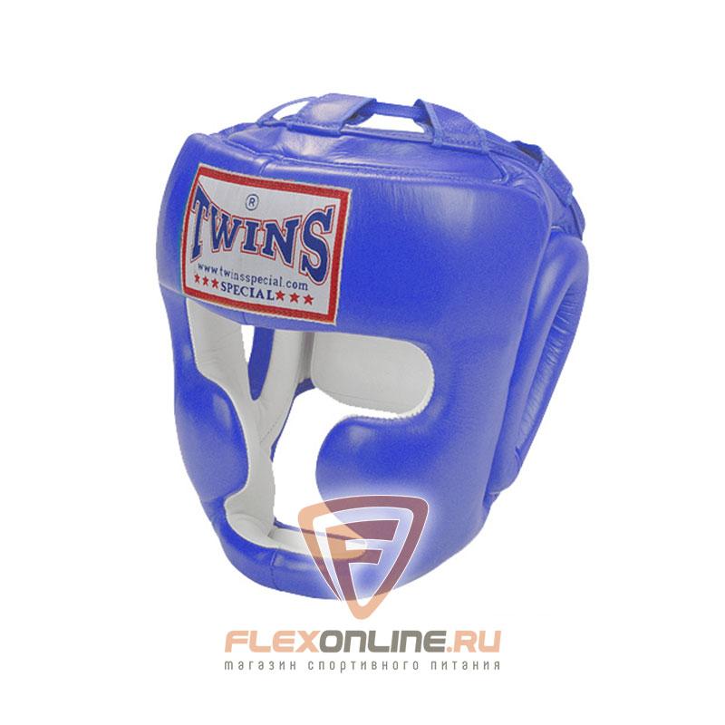 Шлемы Боксерский шлем тренировочный с креплением на липучке L синий от Twins