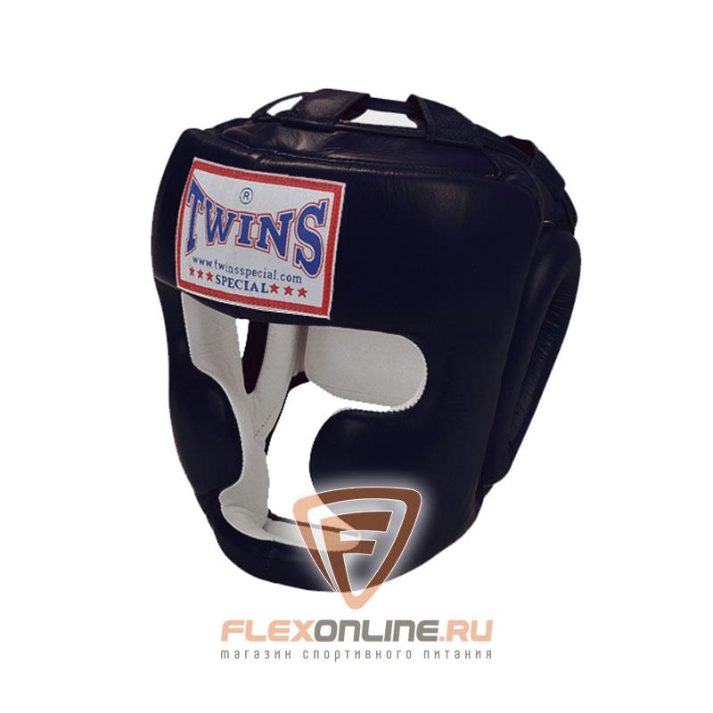 Шлемы Боксерский шлем тренировочный с креплением на липучке L чёрный от Twins