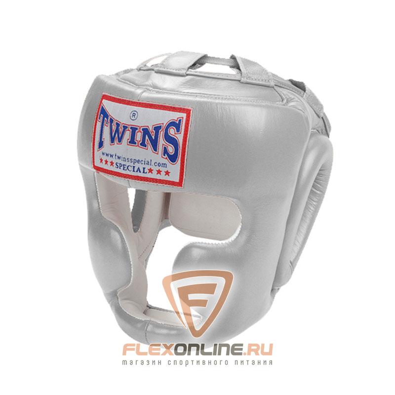 Шлемы Боксерский шлем тренировочный с креплением на липучке XL серебряный от Twins