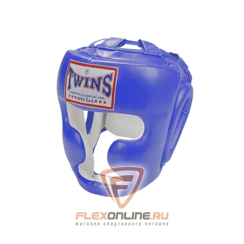 Шлемы Боксерский шлем тренировочный с креплением на липучке XL синий от Twins