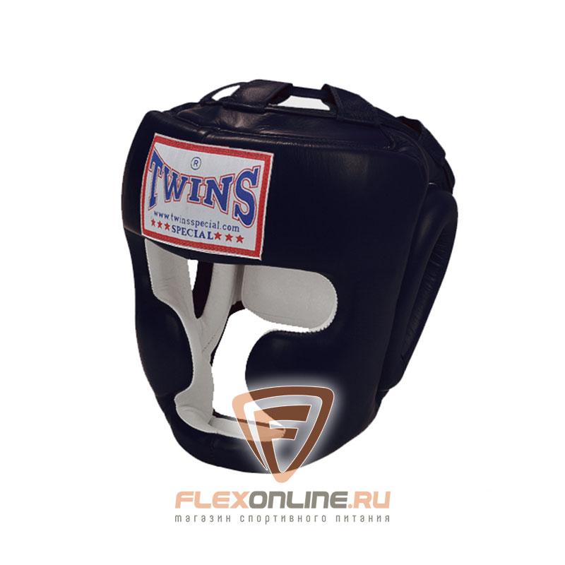 Шлемы Боксерский шлем тренировочный с креплением на шнурках L чёрный от Twins