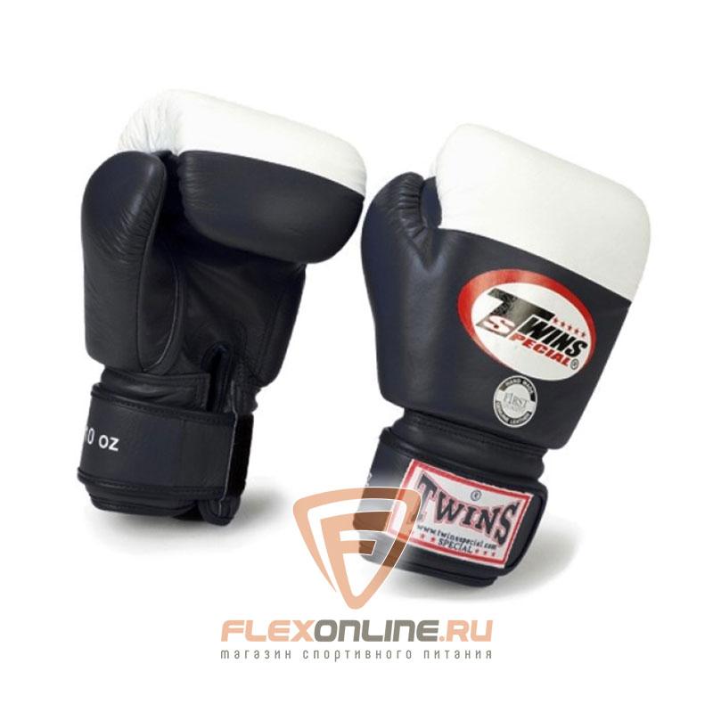 Боксерские перчатки Перчатки боксерские соревновательные 10 унций чёрные от Twins
