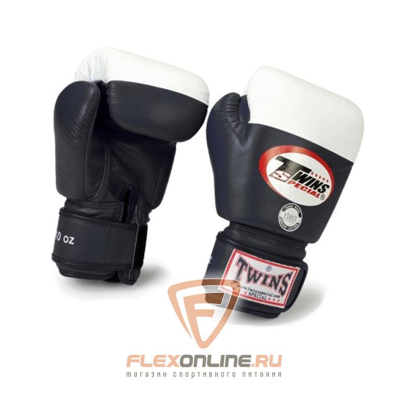 Боксерские перчатки Перчатки боксерские соревновательные 12 унций чёрные от Twins
