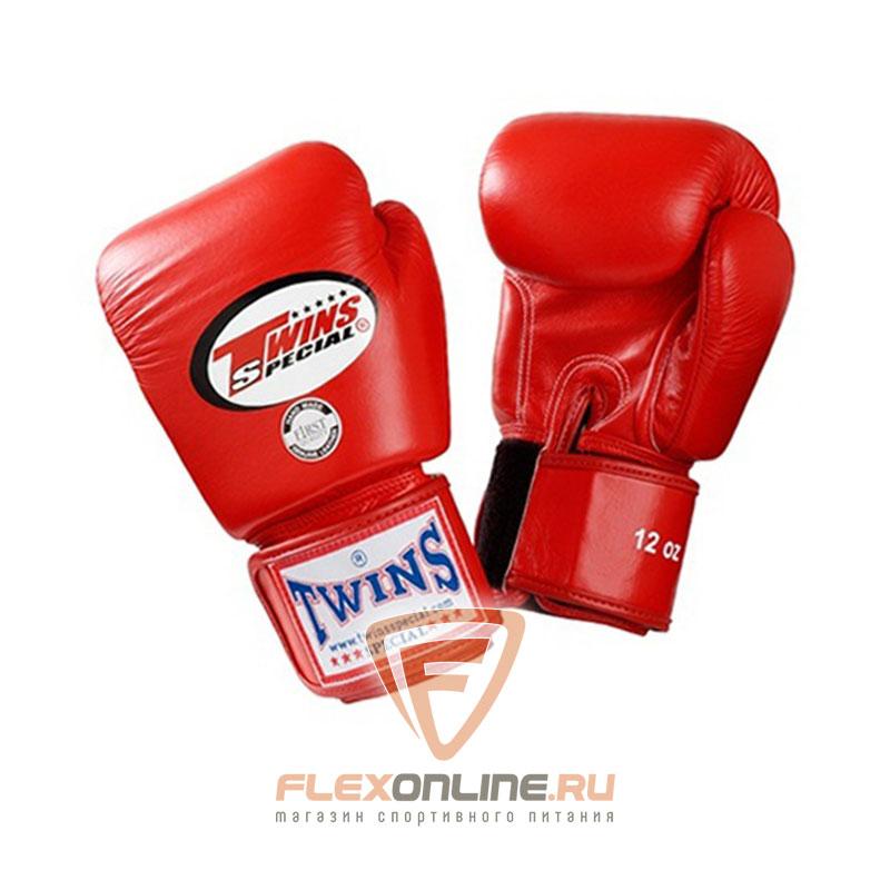Боксерские перчатки Перчатки боксерские тренировочные 10 унций красные от Twins