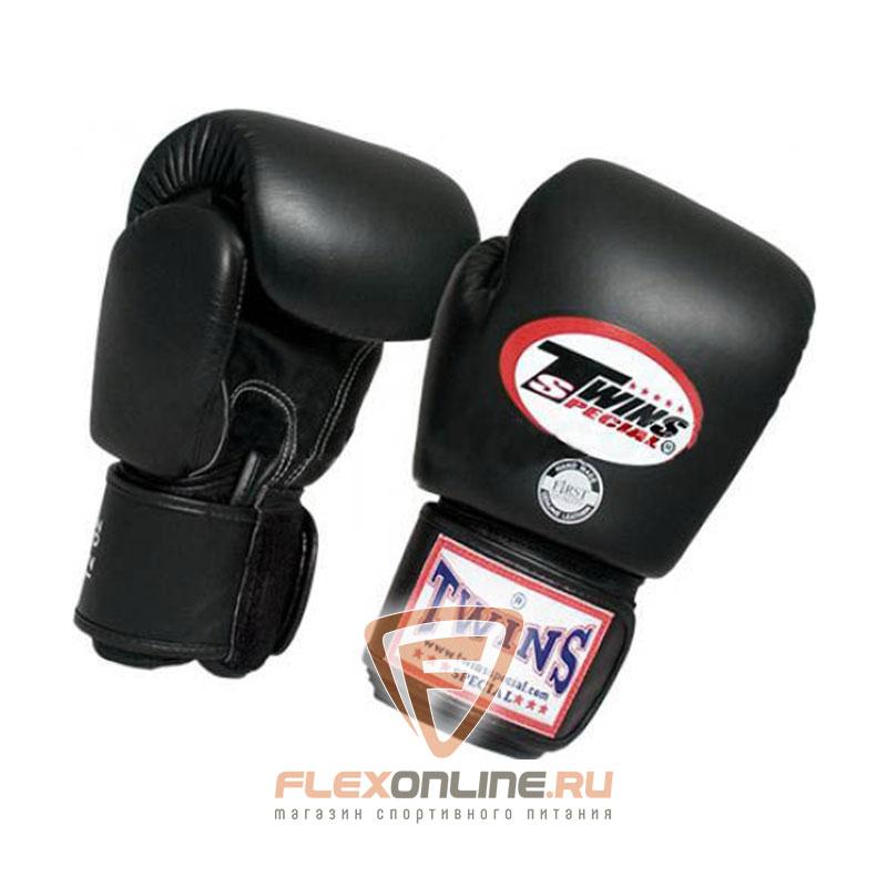 Боксерские перчатки Перчатки боксерские тренировочные 14 унций чёрные от Twins
