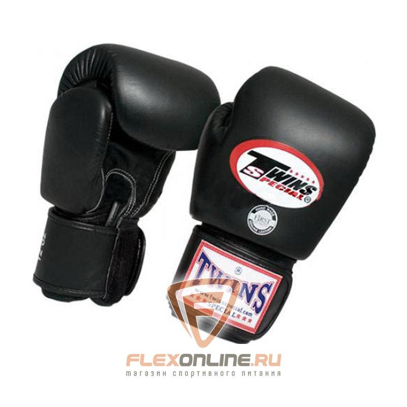 Боксерские перчатки Перчатки боксерские тренировочные 16 унций чёрные от Twins
