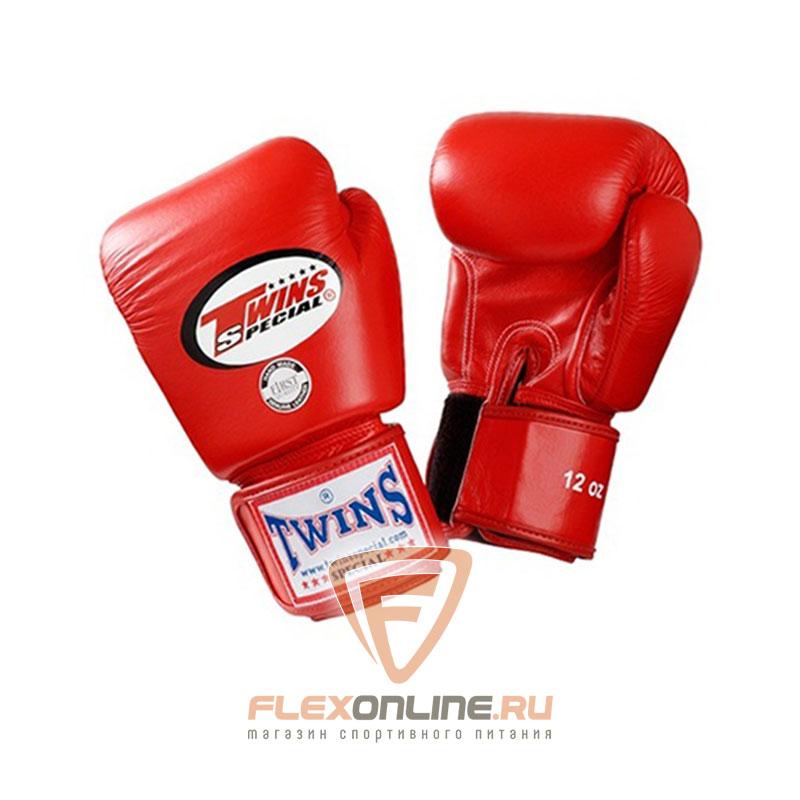 Боксерские перчатки Перчатки боксерские тренировочные 18 унций красные от Twins