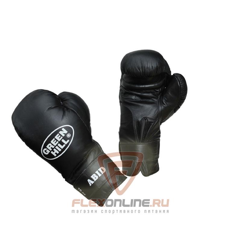 Боксерские перчатки Перчатки боксерские ABID 16 унций чёрные от Green Hill