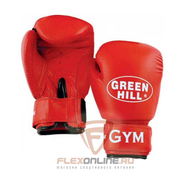 Боксерские перчатки Перчатки боксерские GYM 8 унций красные от Green Hill