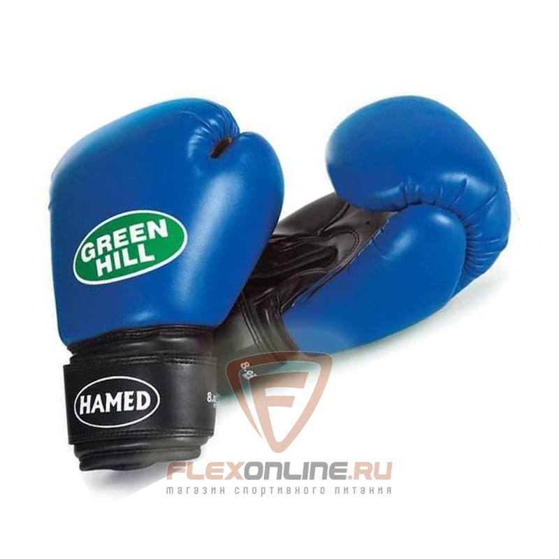 Боксерские перчатки Перчатки боксерские HAMED 6 унций синие от Green Hill