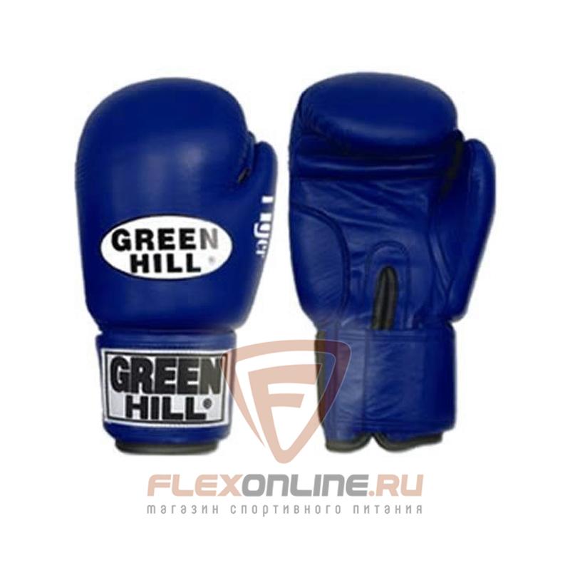 Боксерские перчатки Перчатки боксерские TIGER 14 унций синие от Green Hill