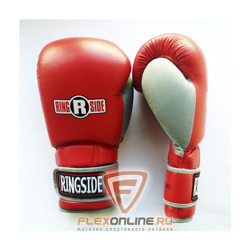 Боксерские перчатки Боксерские перчатки тренировочные 16 унций красно-серые от Ringside