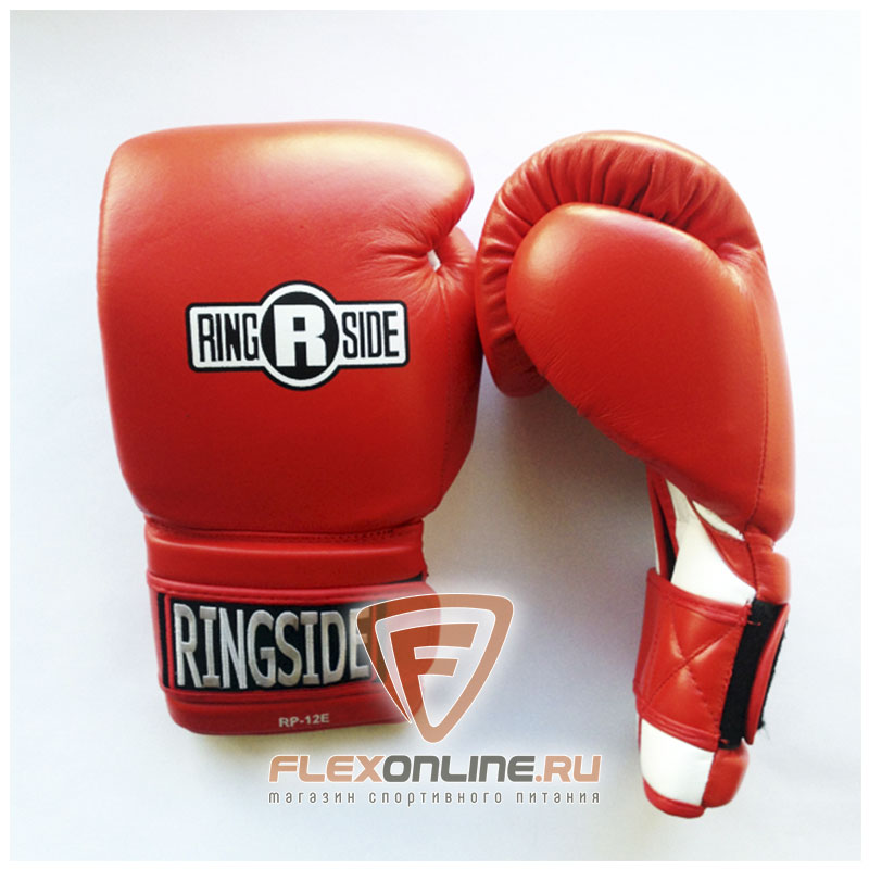 Боксерские перчатки Боксерские перчатки тренировочные 12 унций красно-белые от Ringside