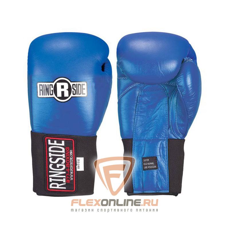 Боксерские перчатки Перчатки боксёрские соревновательные на липучке 10 унций синие от Ringside