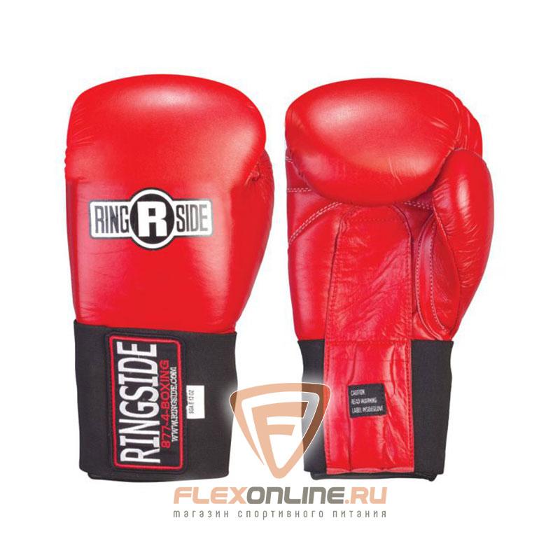 Боксерские перчатки Перчатки боксёрские соревновательные на липучке 10 унций красные от Ringside