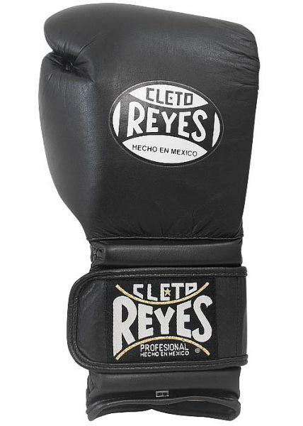 Боксерские перчатки Перчатки боксерские тренировочные на липучке 14 унций чёрные от Cleto Reyes