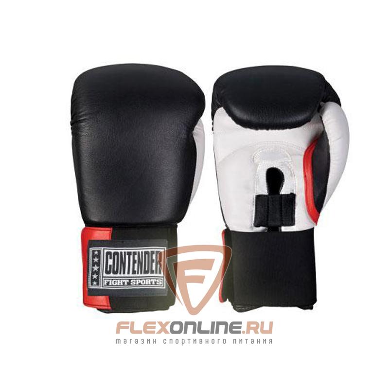 Боксерские перчатки Перчатки боксерские тренировочные на липучке 12 унций чёрно-белые от Contender