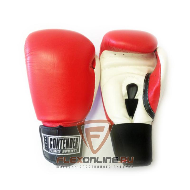 Боксерские перчатки Перчатки боксерские тренировочные на липучке 12 унций красно-белые от Contender