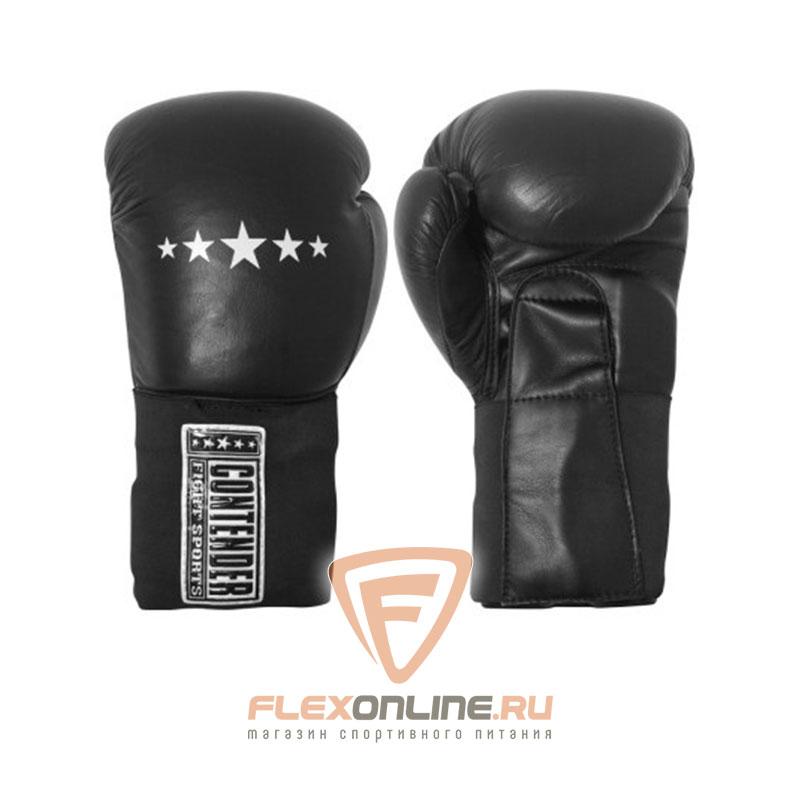 Боксерские перчатки Перчатки боксерские тренировочные на липучке 14 унций чёрные от Contender