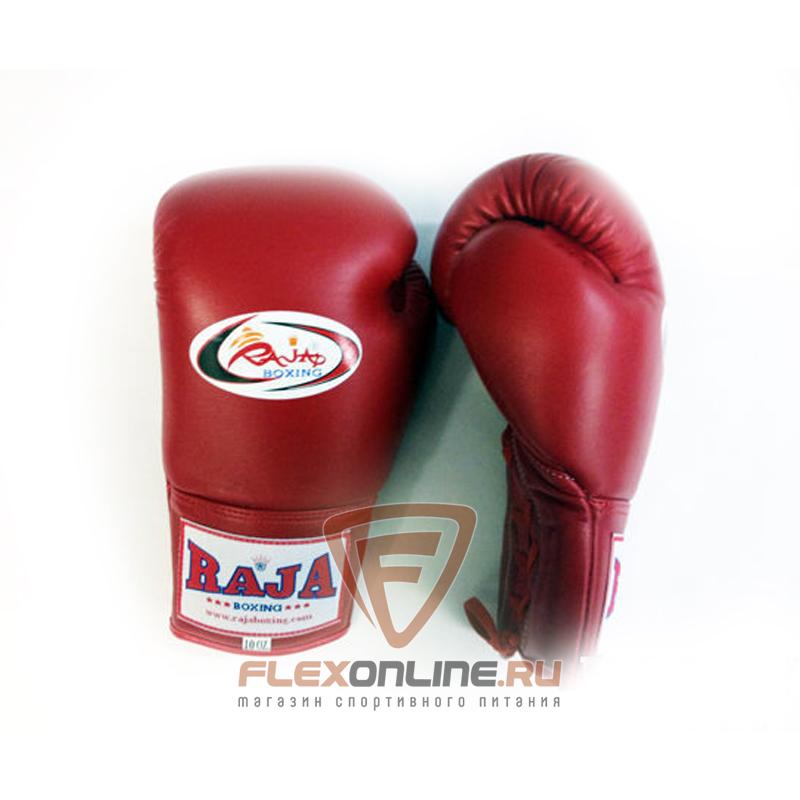 Боксерские перчатки Перчатки боксерские соревновательные на шнурках 10 унций красные от Raja