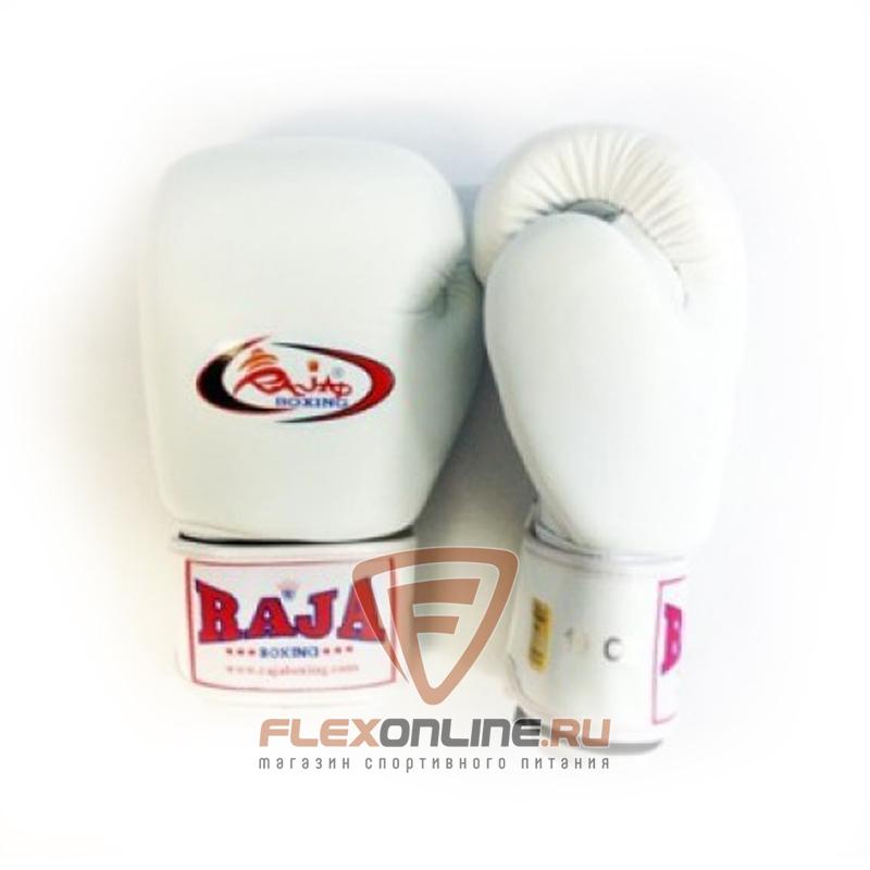 Боксерские перчатки Перчатки боксерские тренировочные на липучке 12 унций белые от Raja