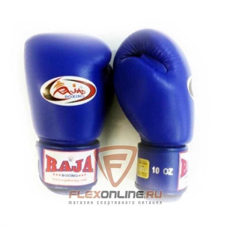 Боксерские перчатки Перчатки боксерские тренировочные на липучке 14 унций синие от Raja